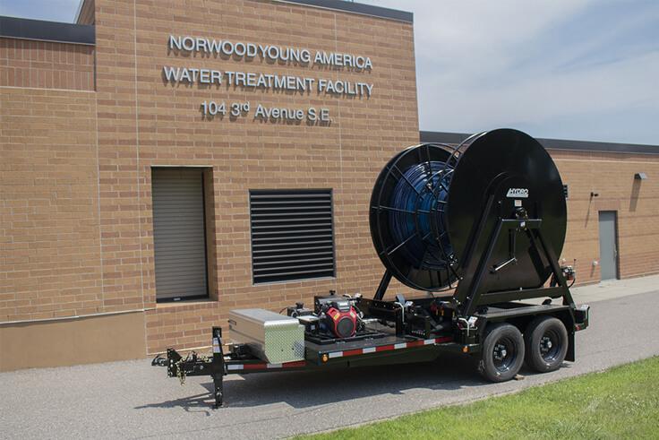 Hydro Engineering Layflat Hose Reel