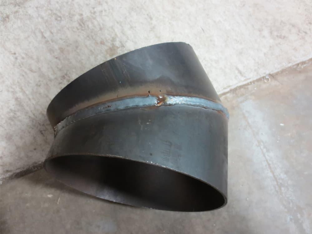 gauged weld-on 45 degree mitered elbow