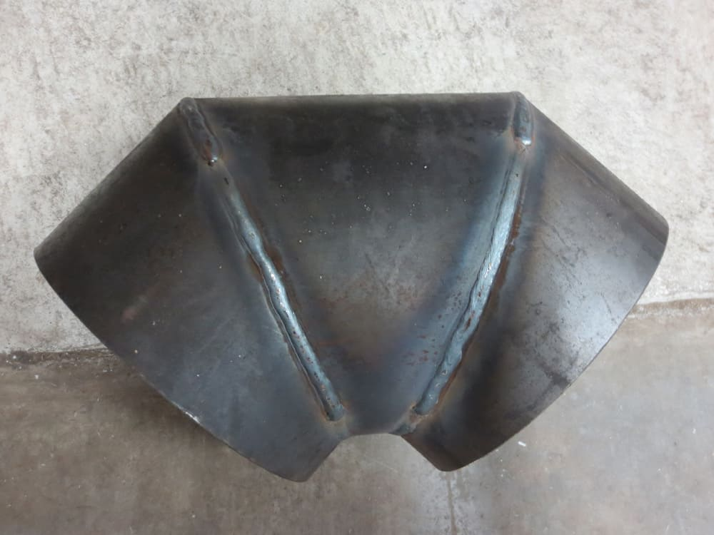 gauged weld-on 90 degree mitered elbow